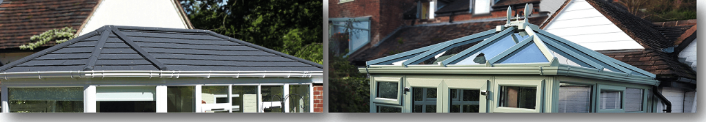 2 conservatory roof styles