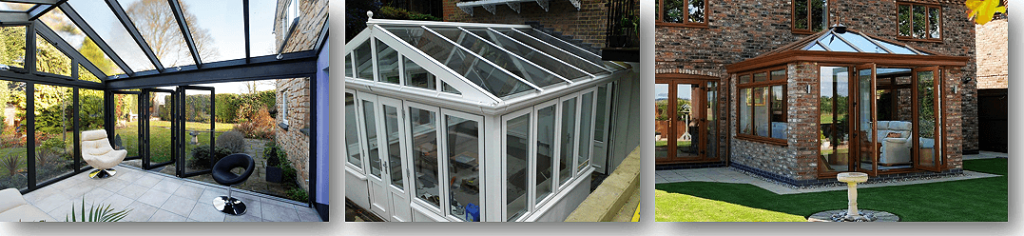 modern glass conservatory roof