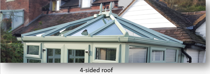 4 sided conservatory roof