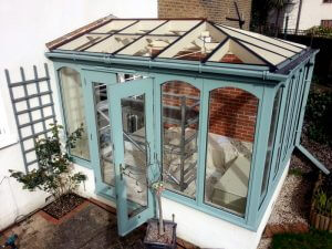 Conservatory roof ready for glass