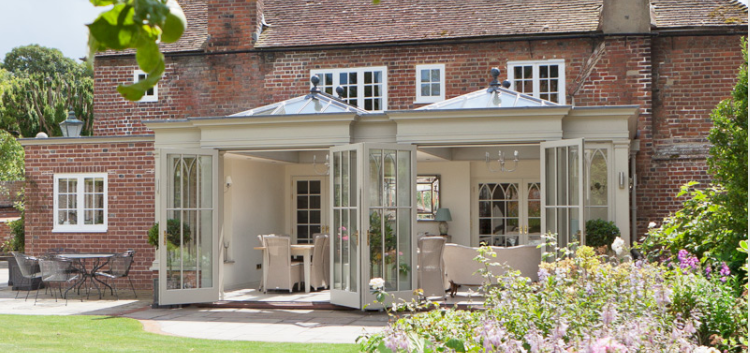 Double French Doors in a Georgian Conservatory