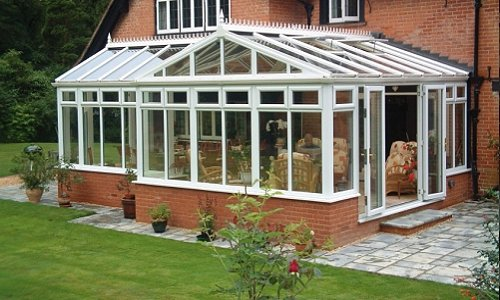 Gable T shape conservatory