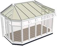 Gull-Wing Lean to Conservatory