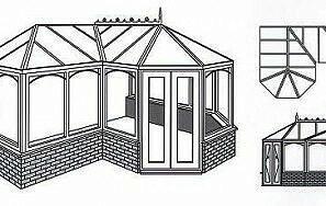 P shape conservatory