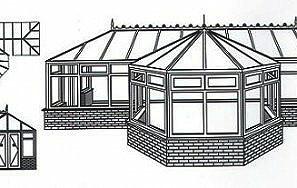 T shape conservatories