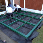 steel frame conservatory base